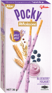 Pocky, Wholesome, Glico, Singapore, Blueberry, Yogurt